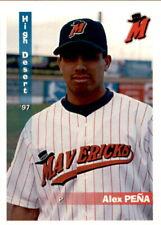1997 High Desert Mavericks Grandstand #19 Alex Pena El Paso Texas Baseball Card