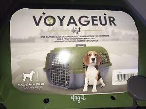 Dogit Voyageur Dog Cat Pet Carrier Grey/Khaki XL Size - See Description