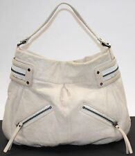 L.A.M.B. Gwen Stefani Ivory Lambskin Leather Signature Hobo Handbag Purse