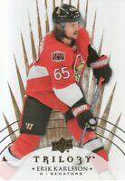 2014-15 Upper Deck Trilogy Hockey #70 Erik Karlsson Ottawa Senators