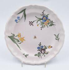 Assiette en faïence de Moustiers dernier quart du XVIIIè siècle Fouque Feraud ?