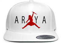 WHITE Arya Stark Game of Thrones GOT AIR Snapback Hat