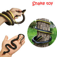 Funny Scary Prank Simulation Black Mamba Toy Realistic Snake Halloween Props