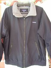 LANDS END ADULT PUFFER INSULATED BLACK WINTER JACKET LG 42-44 V NICE CLEAN