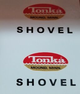 TONKA SHOVEL WATER SLIDE decal
