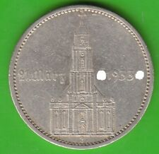 5 Reichsmark 1934 J Kirche mit Datum 21. März 1933 sehr schön nswleipzig
