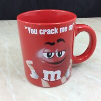 Red Mars M and M You Crack Me Up 12 ounce. Ceramic Coffee Tea Cup Mug