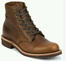 CHIPPEWA 1901M26 6-Inch General Utility BOOTS Men's US M7 W9 BROWN LEATHER NEW
