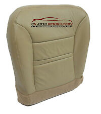 2000 Ford Excursion Limited Driver-Side Bottom Leather-Seat Cover Parchment Tan