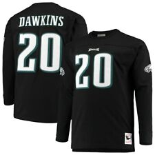 Philadelphia Eagles Brian Dawkins #20 Mitchell & Ness NFL Long Sleeve Shirt-SZ L
