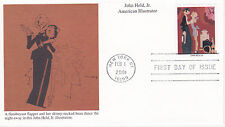 MYSTIC STAMP FDC - 2001 AMERICAN ILLUSTRATOR JOHN HELD, JR. SCOTT #3502T