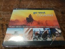 Go West Country 3 Discs Willie Nelson Dolly Parton Conway Twitty More New Sealed