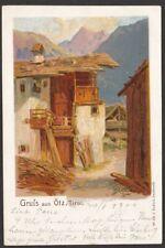 7374 Gruß aus Oetz - Oetztal - Künstler-AK Litho 1900