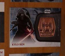 Topps STAR WARS Force Awakens Serie 2 Card MEDALLION 12 KYLO REN Carte Rare