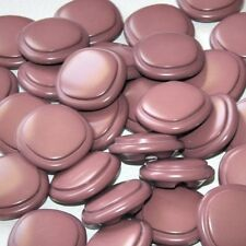 lot de 5 boutons carrés plastique marron 29mm button
