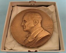 1949 HARRY S. TRUMAN HIGH RELIEF LARGE BRASS INAUGURATION MEDALLION.