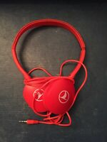 Turkish Airlines Logo RED headphones Plug In - See Pics