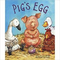Large Childrens Bedtime Story - Pig's Egg - Farmyard Farm Picture Book Kids 1877