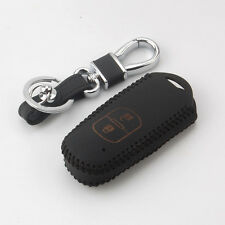 Thread Leather Car Smart Key Chain Holder Case Cover For Mazda 2 3 6 CX-5 CX-7