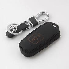 2BT Thread Leather Car Smart Key Shell Case w/keychain For Mazda 2 3 6 CX-5 CX-7