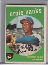 1959 TOPPS #350 ERNIE BANKS CHICAGO CUBS HOF 9237