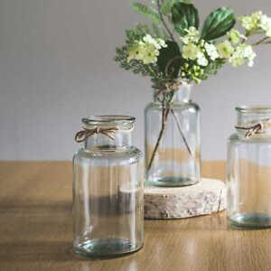 Various size of WIDE NECK FLOWER VINTAGE STYLE GLASS BOTANICAL BUD VASE JAR