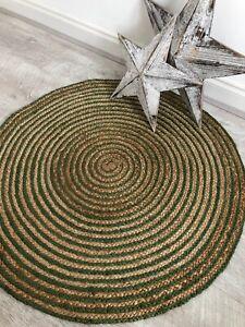 Jute Green Round Rug