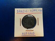 10 Pfennig, Danzig, 1920, original