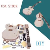 Unfinished LP Style Electric Guitar DIY Set Hot Gift for Guitar Lover Free Ship