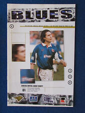 Carlisle United v Derby County - 29/7/98 - Friendly Programme