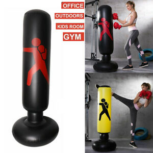 Kid Adult Inflatable Punch Bag Free Standing 160cm Home Kick MMA Training Boxinh