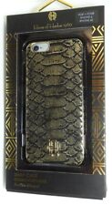 House of Harlow 1960 Gold Metallic Snake Print Case for iPhone 6/6s, Black/Gold