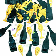 TABLE CONFETTI 'Cheers' Champagne Bottles congratulations New Year Celebrations