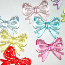 25 Bow knot Shaped Beads 29mm for Bubblegum Necklace Kandi craft FOB keychain ki
