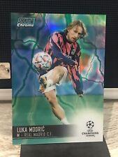New listing 2021 Stadium Club Chrome Aqua/Green Electric #79 Luka Modric - Real Madrid /150