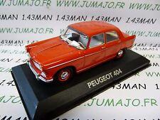 voiture 1/43 atlas NOREV voiture de mon père : PEUGEOT 404 rouge