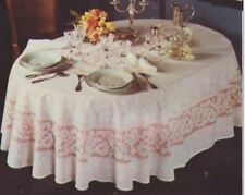 NAPPE SEULE DECORATIVE   GUIPURE POLYESTER OVALE BLANCHE 160X190 MADE IN FRANCE*