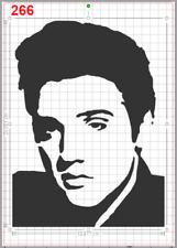 Elvis Presley Face Stencil MYLAR A4 sheet strong reusable wall craft art deco