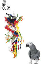 HAPPY PET PARROT PLUCKER RAINBOW MACAW AFRICAN GREY BOREDOM RELIEF CAGE TOY 0701
