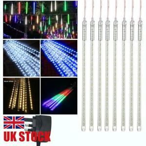 LED Meteor Shower Rain Light Falling String Light Drop Icicle Snow Xmas Party UK