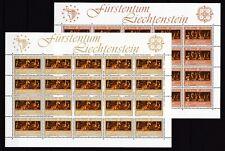 Liechtenstein 1985 postfrisch Bogen MiNr. 866-867 Europäisches Jahr der Musik