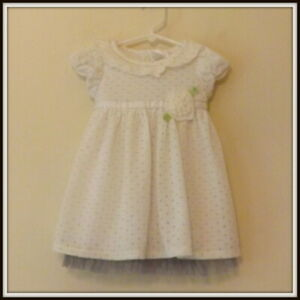 Youngland Baby, Ivory cotton mix knitted dress, age 18 months, NWT