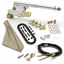 Floor Mnt E-Brake Handle~Tan Boot, Blk Ring, Cable Kit, Ford Clevis' muscle
