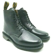 Dr Martens Eldritch Man's Combat 8 Eye Boot Pebbled Leather Black US 7,11, 13