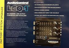 New Audio Control Lcq-1, 6-Channel Oem Integration Line Out Converter Eq (Black)
