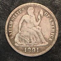 1891-O Seated Liberty Dime - High Quality Scans #F505