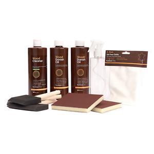 Worktop Maintenance Kit - Wood Cleaner & Oil to Maintain/Restore Kitchen Worktop