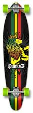 Yocaher Kicktail Rasta Longboard Complete