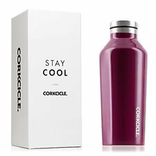 Corkcicle Triple Insulated Water Bottle and Thermos, 9 oz, Gloss Merlot