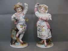 2884* figurine couple danseur castagnette porcelaine saxe , meissen ?  ancien